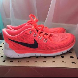 Nike running shoes! Very pretty orange color!